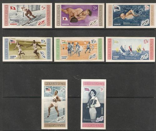 dominicana olimpiadas melbourne 1956 deportes imperforadas