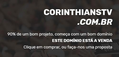 domínio corinthians tv - corinthianstv.com.br