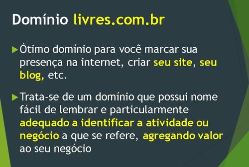 domínio livres.com.br