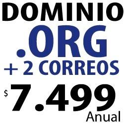 dominio .org + 2 correos electrónicos corporativos gratis!