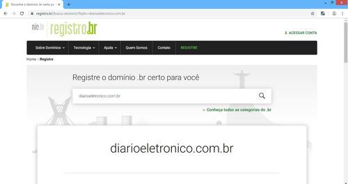 domínio à venda: diarioeletronico.com.br