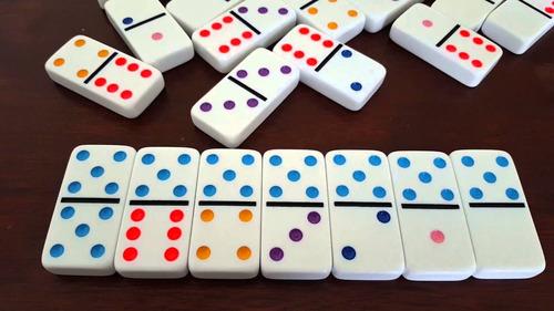 domino 28 piezas juego mesa sencillo estuche de lujo