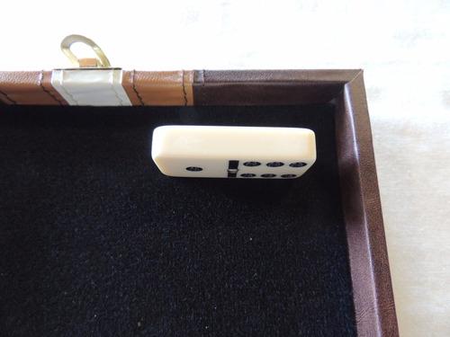 domino com estojo madeira