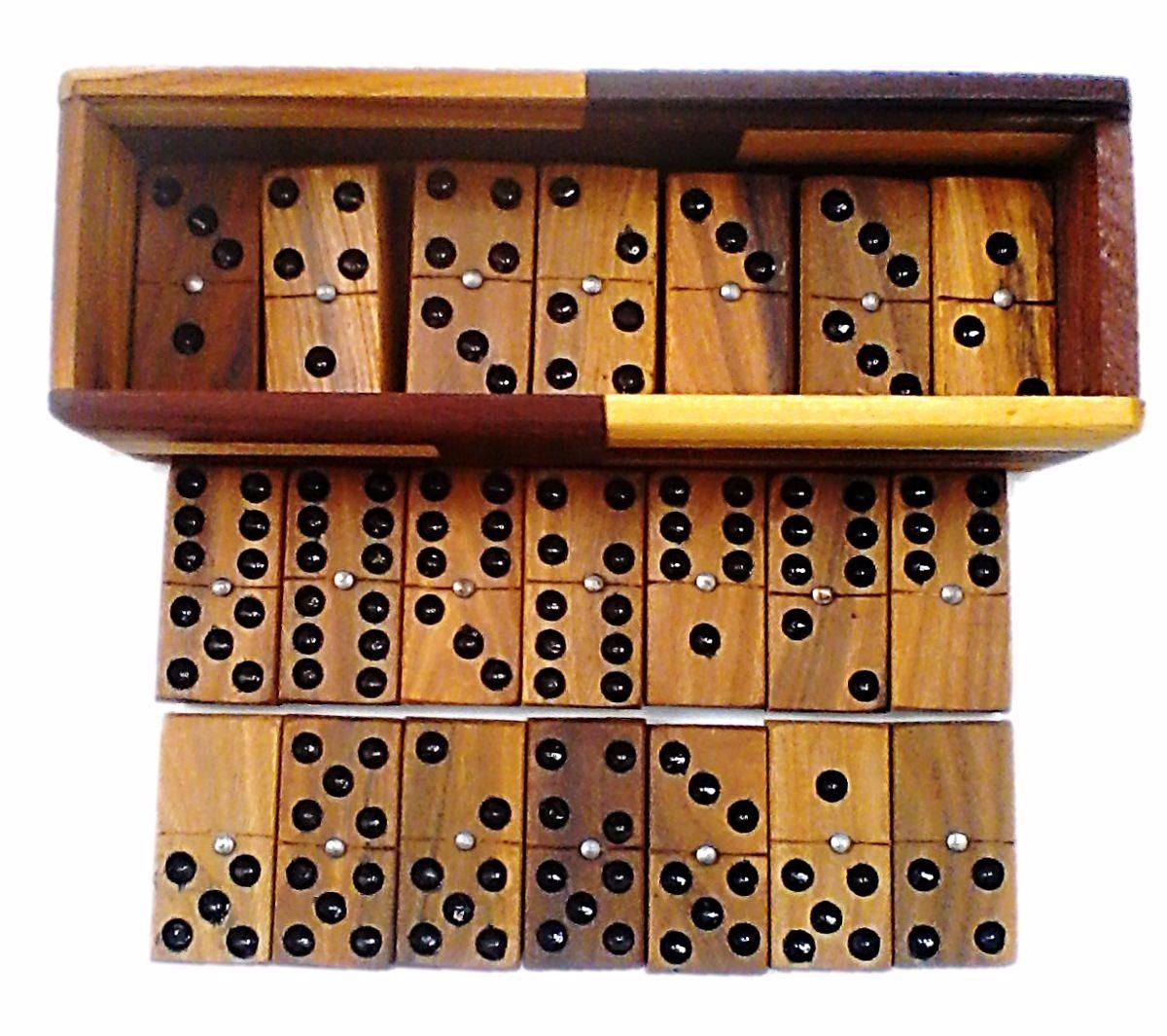 Domino De Madera Juegos De Mesa Cajas Artesanal Tradicional Bs 8