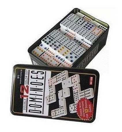 dominó doble doce 12 x 12 91 fichas cj1238 juego mesa