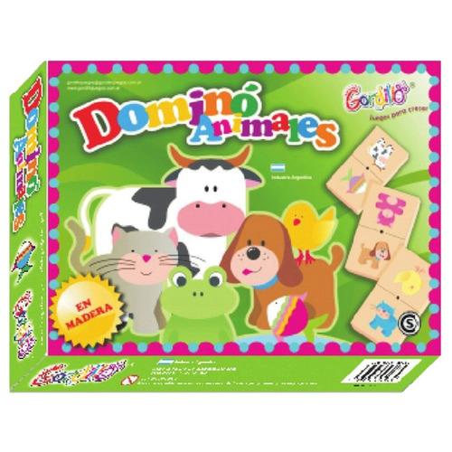 domino infantil de madera animales gordillo planeta juguete