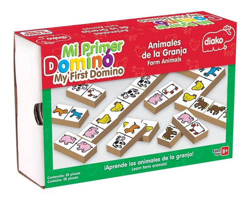 domino juego de madera para niños varios modelos