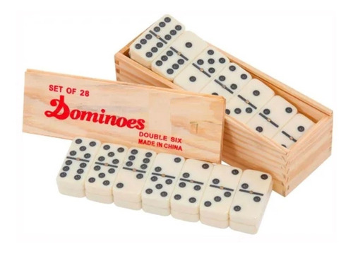 domino profesional caja madera juego fichas casino 5010d