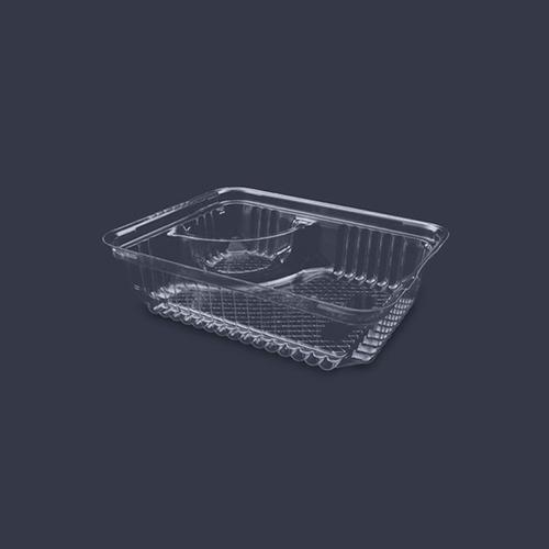 domo contenedor para nachos con cavidad p/queso inix 500 pzs