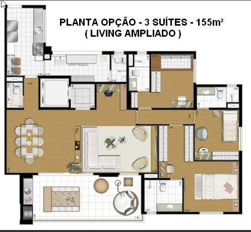 domo life 123m² 13 andar