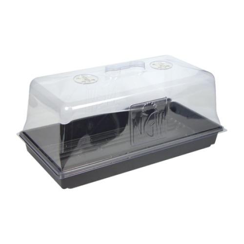 domo transparente + bandeja para clonagem cultivo indoor