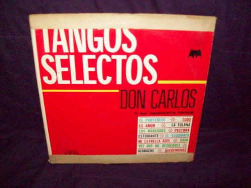 don carlos y su orquesta tipica  vinilo lp tangos selectos