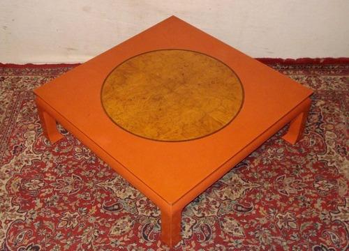 don emilio antigua mesa ratona oriental laqueada 114x114cm!!