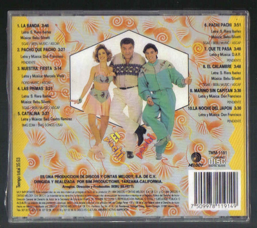 don francisco el pachi pachi cd 1a ed 1994 c/booklet melody