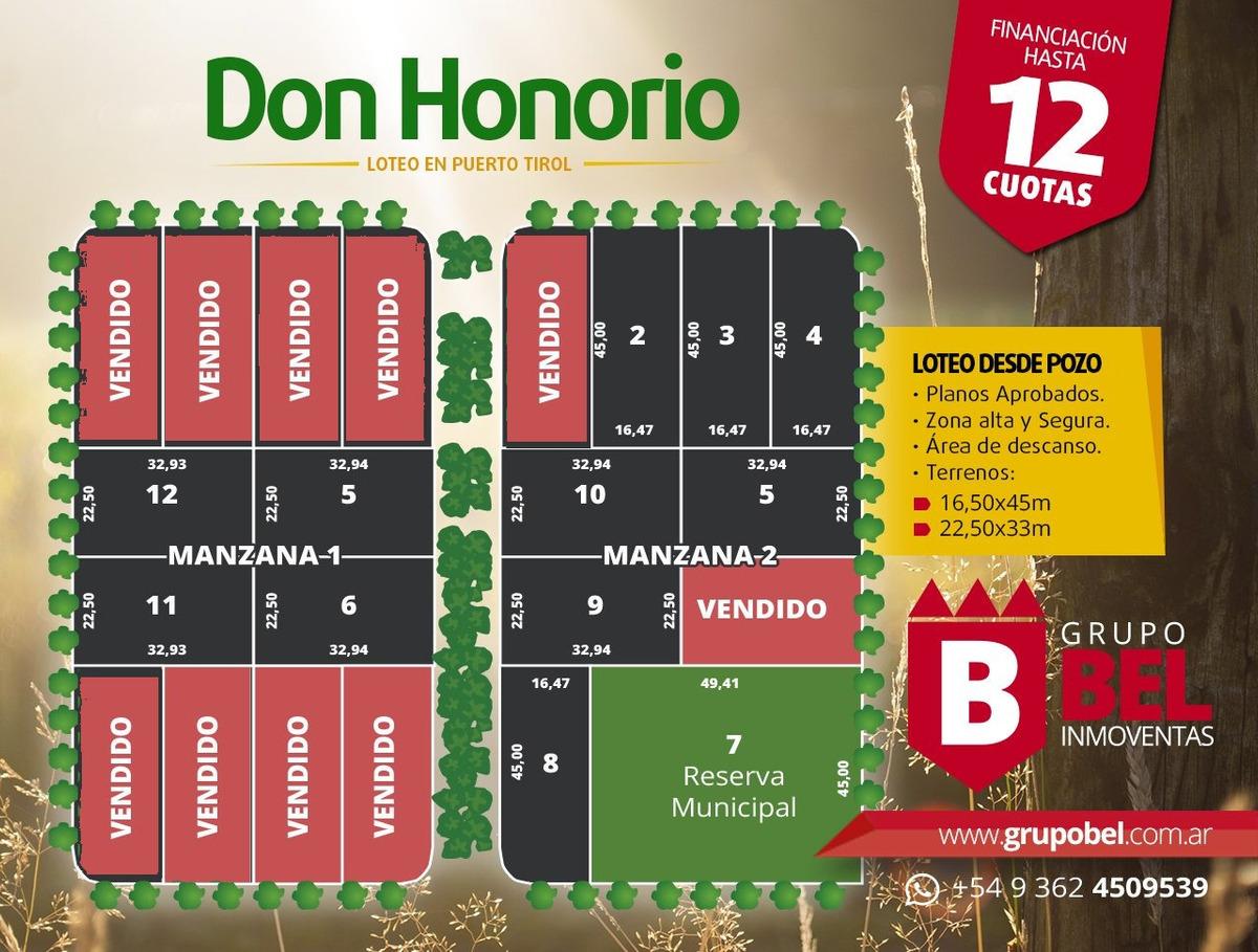 don honorio - lotes en venta puerto tirol