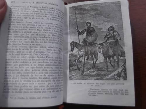 don quijote de la mancha cervantes papel biblia cuero ilustr