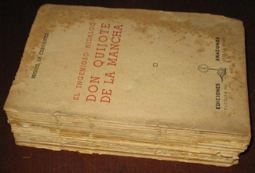 don quijote de la mancha miguel de cervantes - anaconda 1945