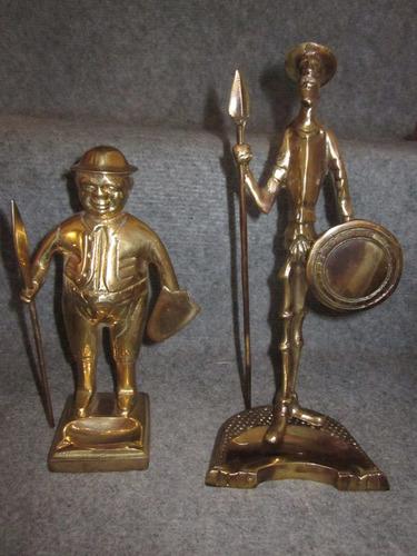 don quijote y zancho panza de bronce