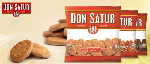 don satur bizcocho salado x 200g galletas 30 unidades bolsa