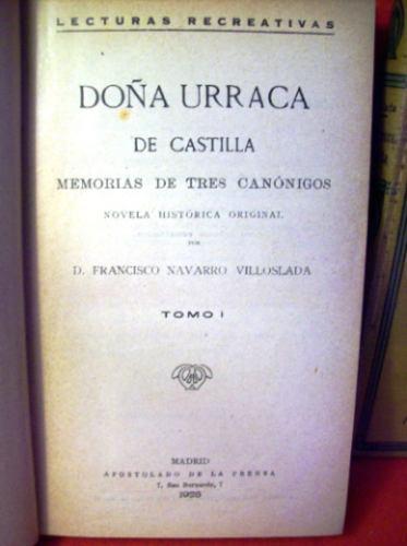 doña urraca de castilla francisco navarro villoslada españa