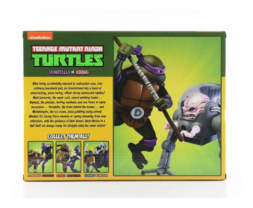 donatello vs krang - teenage mutant ninja turtles - neca