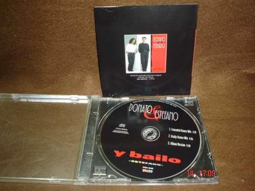 donato & estefano - cd single - y bailo  bfn
