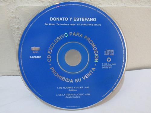 donato y estefano - de hombre a mujer ( cd single exclusivo)