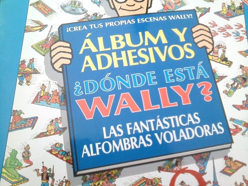 ALBUM Y ADHESIVOS DONDE ESTA WALLY AL *