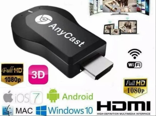 dongle anycast - chromecast - convierte tu tv en smart tv