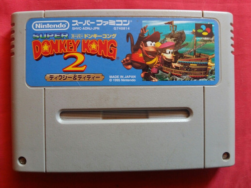 donkey kong country 2 japones super nintendo snes