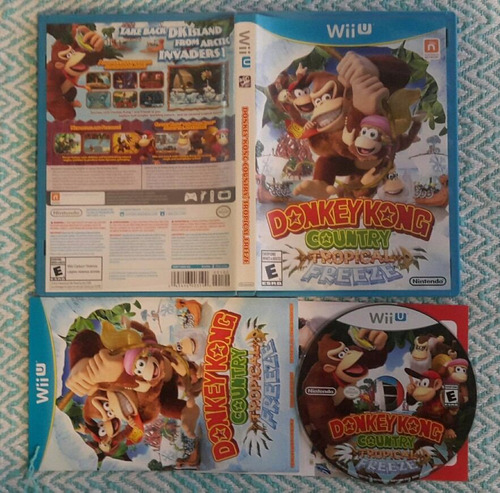donkey kong country tropical freeze nintendo wii u - fisico