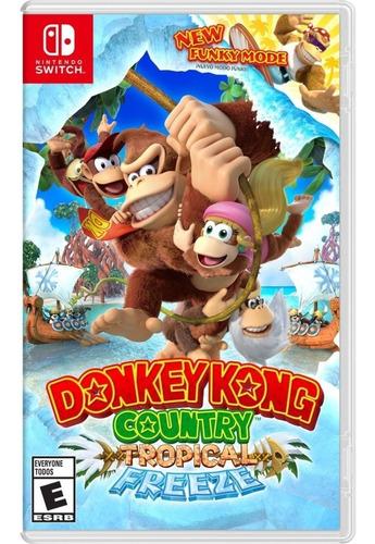 donkey kong country tropical freeze switch mídia física novo