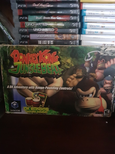 donkey kong junglebeat gamecube con bongos