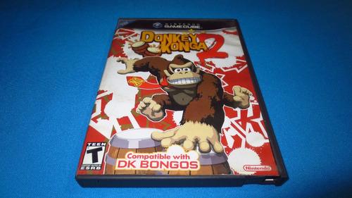 donkey konga 2 gamecube *cd en excelente estado*