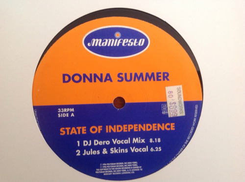 donna summer state of independence