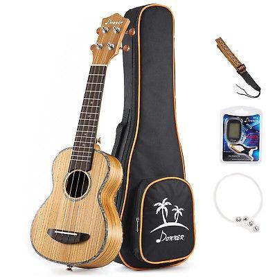 donner zebrawood ukelele soprano 21 ukulele kit