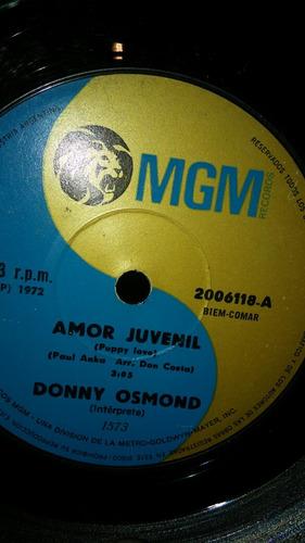 donny osmond - prometeme/amor juvenil