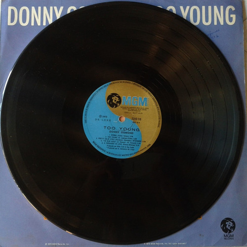 donny osmond - too young  -  lp - ver o video