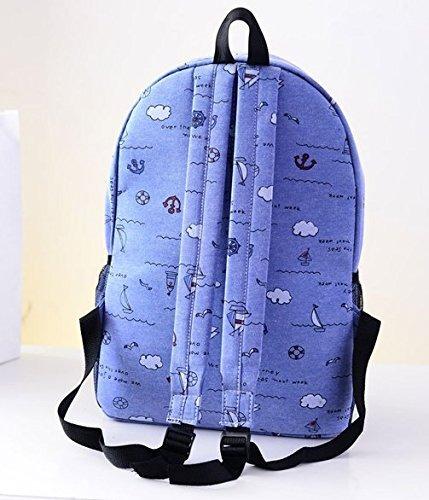 doodle lona mochila escolar bolsas para chicas adolescentes