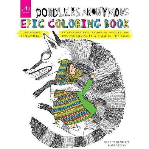 doodlers colorante épico anónimo libro: un mashup