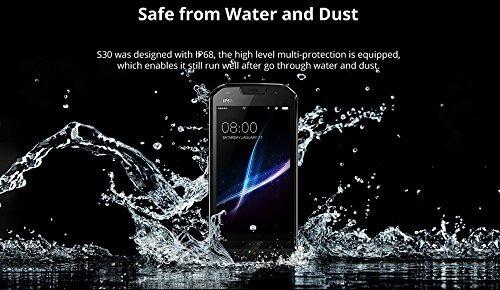 doogee s30 ip68 a prueba de agua 5580mah huella digital de d