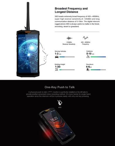 doogee s80 + radio walkie talkie + 10,080 mah -  6gb+64gb