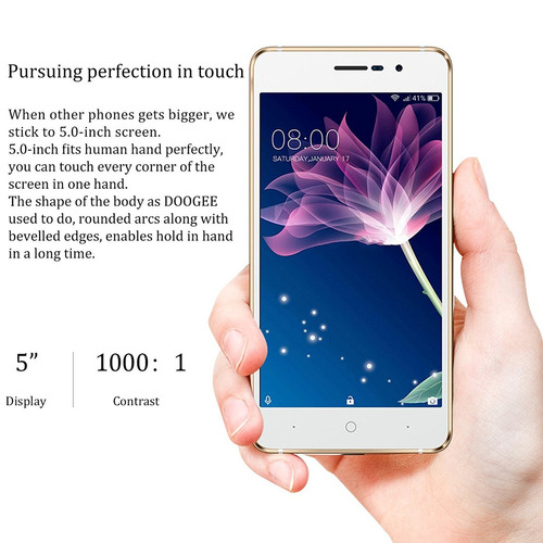 doogee x10 android 6.0 - 8gb rom - 2mp+5mp 3360mah