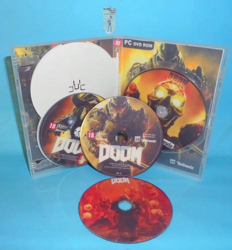 doom 2016 - deluxe edition - pc dvd - frete 8 reais