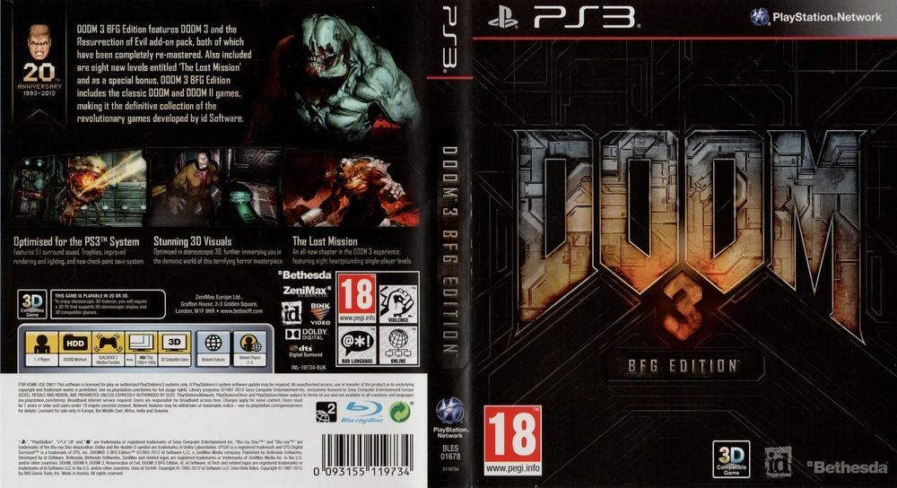 Doom 3 Bfg Edition Ps3 Fisico