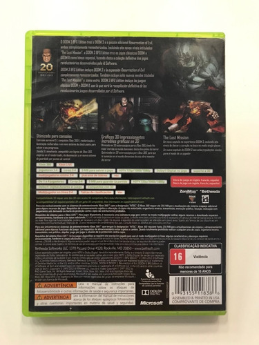 doom 3 bfg edition xbox 360