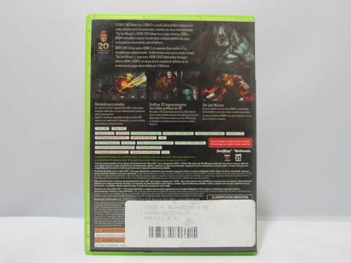 doom 3 bfg edition - xbox 360 ¡fisico-usado!