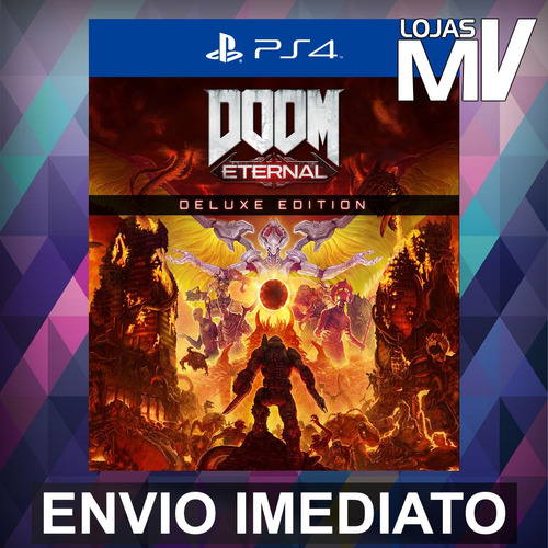 doom eternal deluxe playstation 4 ps4 código 12 dígitos
