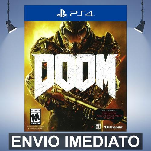 doom - playstation 4 ps4 código 12 dígitos