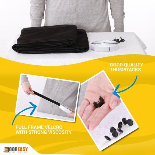 dooreasy pantalla de malla magnética manos libres de polié